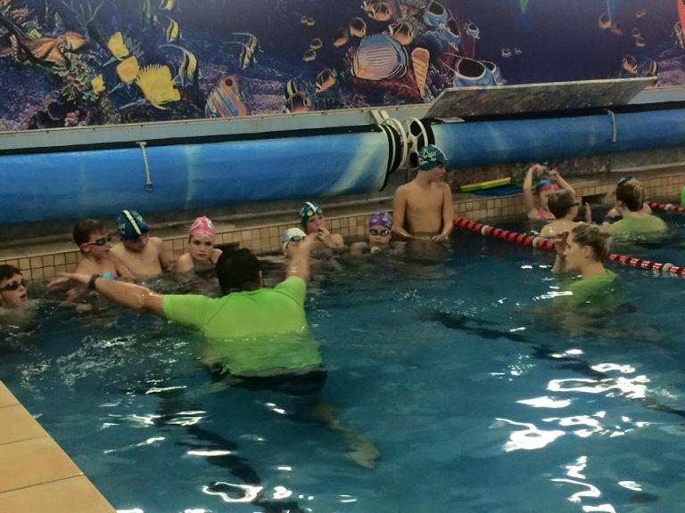 Older children swimming