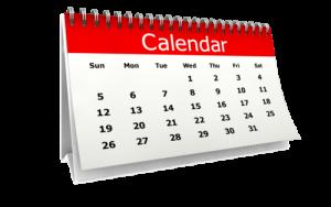 2019 Block Dates